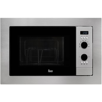 Microintegrable - Teka MS 620 BIS, 20L, 700W, Grill, Negro, Acero inoxidable, Grill 1.000 W, Cristal Touch control  y display TF