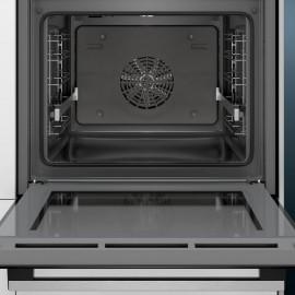 Siemens HB537A0S0 - Horno multifunción iQ500 de 60cm Cristal negro, GUIAS EXTRAIBLES